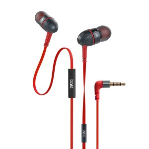 boAt Bass Heads 225 in-Ear Bass Headphones with One Button Mic (Red)